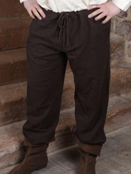 Baumwollhose mit Schnürung dunkelbraun