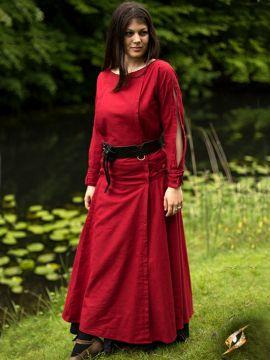 Kleid mit Schnürung rot L