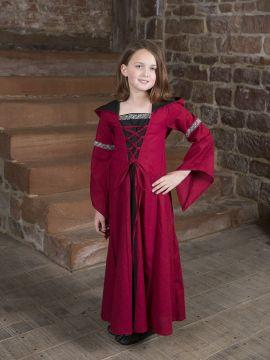 Kinderkleid Helena schwarz-rot 140