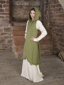 Wickelkleid Dala aus Baumwolle lindgrün L/XL