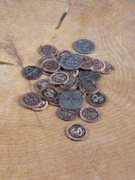 LARP-Münzen Feuer mit Lederbeutel